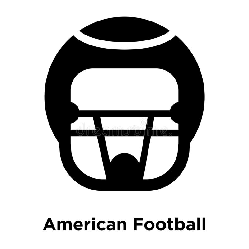 American Football HElmet icon vector isolated on white background, logo concept of American Football HElmet sign on transparent b. Ackground, filled black symbol vector illustration