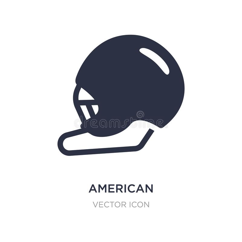 American football helmet icon on white background. Simple element illustration from American football concept. American football helmet sign icon symbol design royalty free illustration
