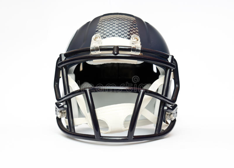 American football helmet. Isolated on white background stock image
