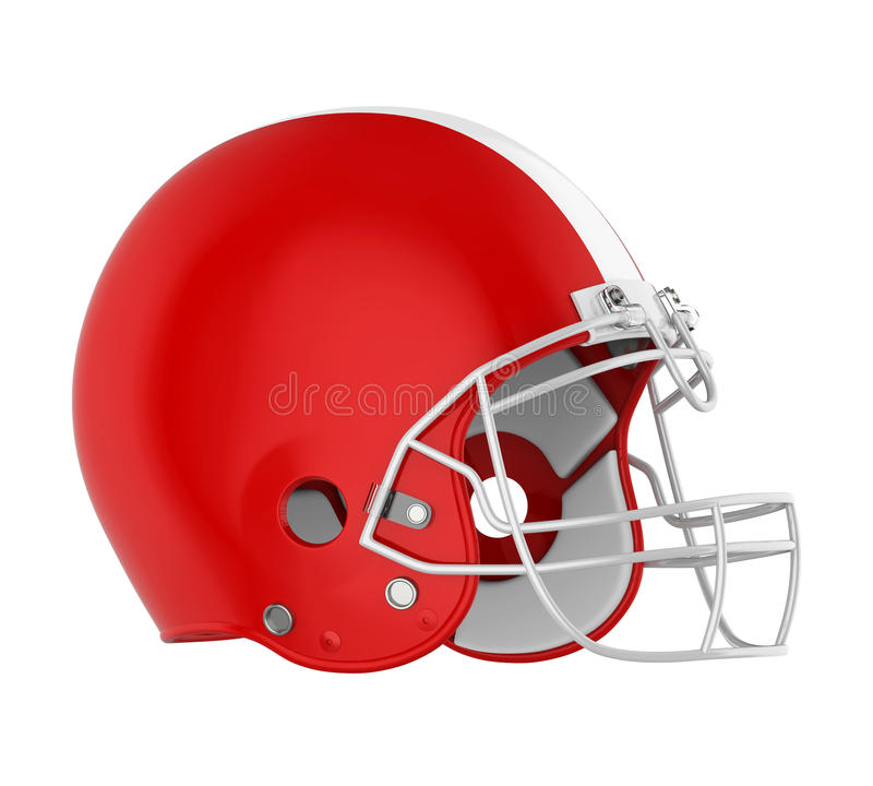 American Football Helmet Isolated. On white background. 3D render stock illustration