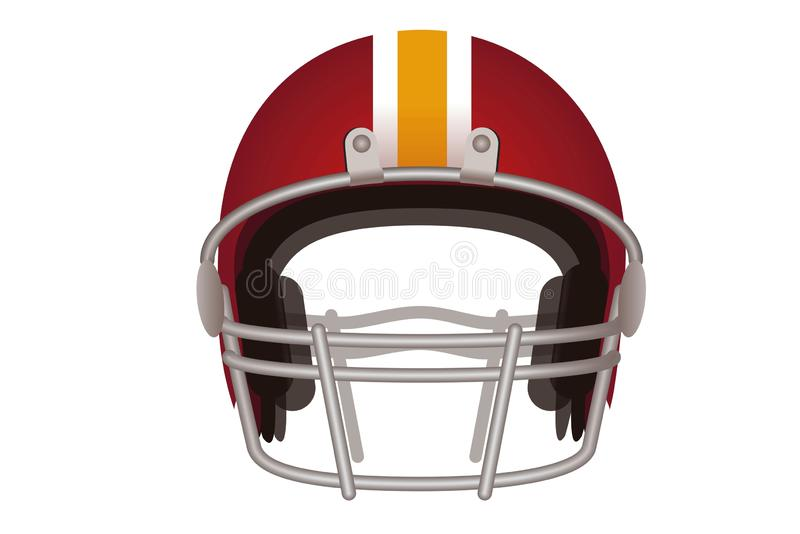 American football helmet isolated on white background. stock images