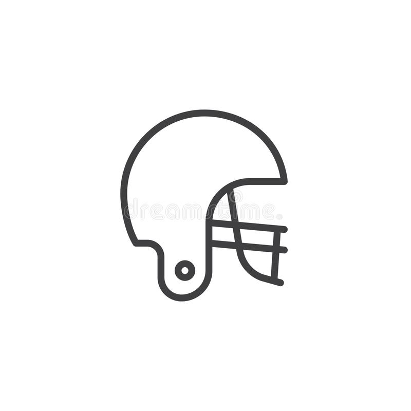 American football helmet line icon stock illustration