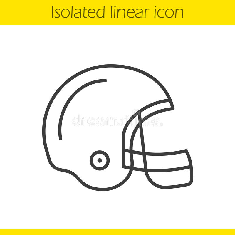 American football helmet linear icon royalty free illustration