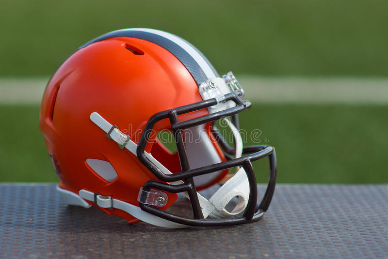 American football helmet stock photography
