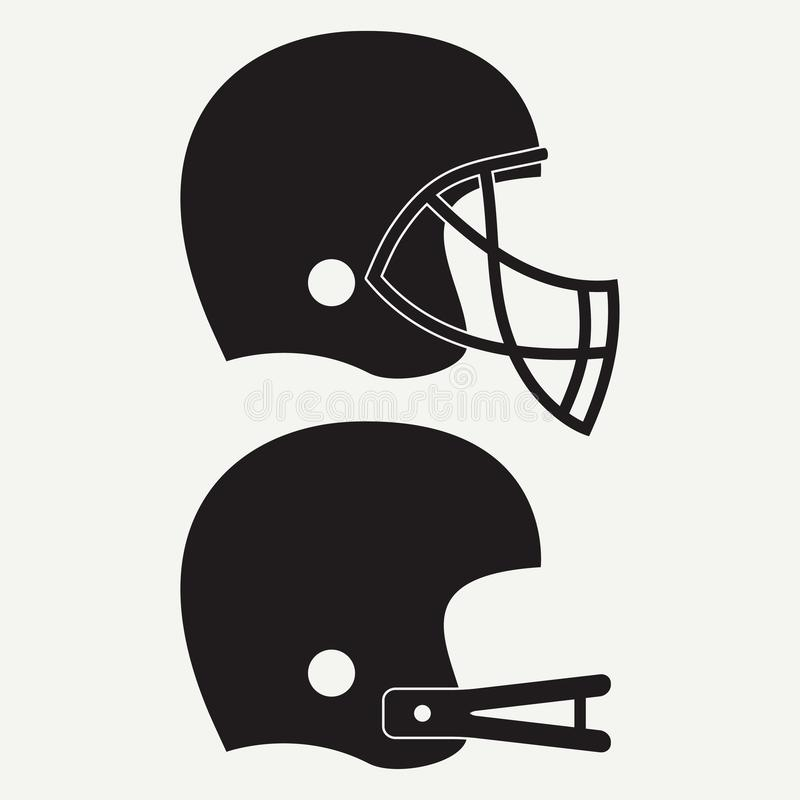 American football helmet. Set of sport icon. Vector. vector illustration