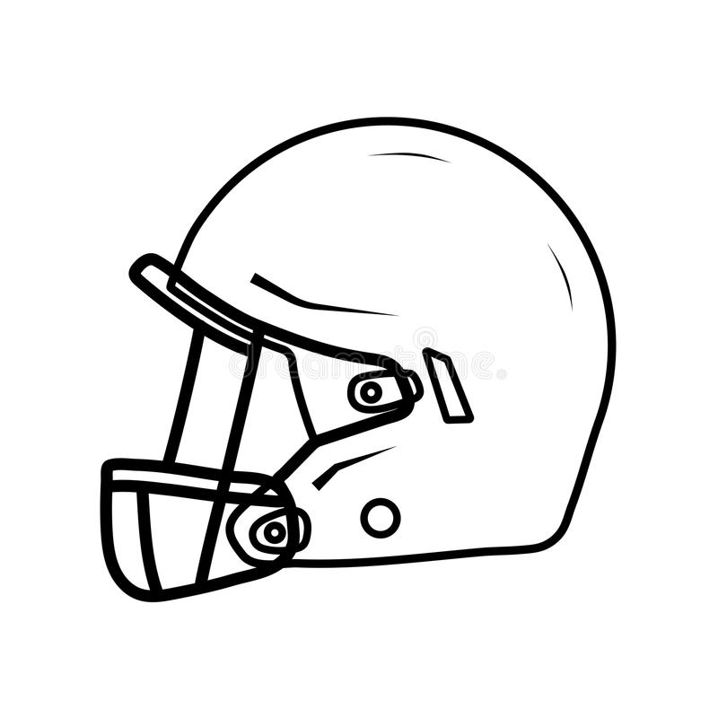 american football helmet side view stock vector illustration of rh dreamstime com
