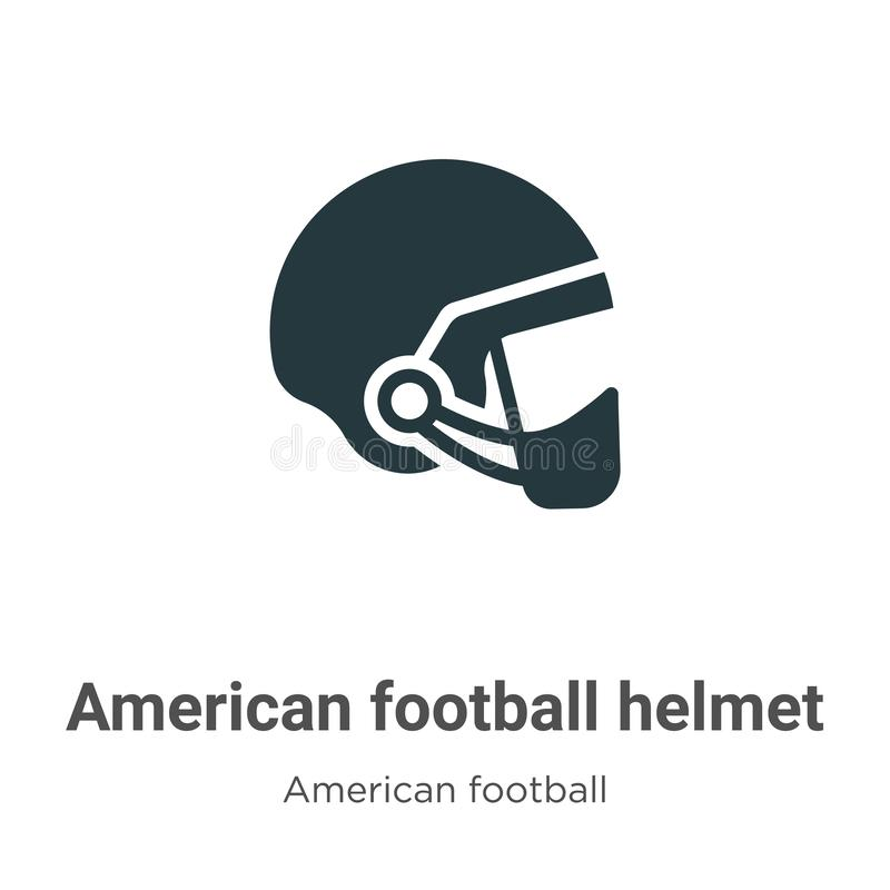 American football helmet vector icon on white background. Flat vector american football helmet icon symbol sign from modern royalty free illustration