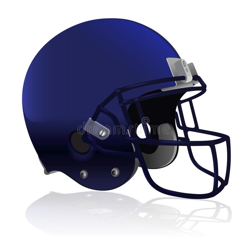 American Football Helmet on White. An American Football helmet on a white background. Vector EPS 10 available. EPS file contains transparencies royalty free illustration