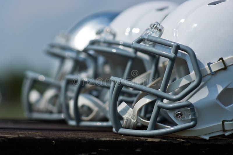 American football helmets stock photography