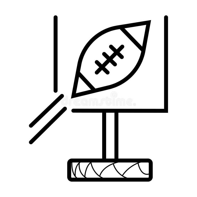 American football icon. Vector illustration royalty free illustration