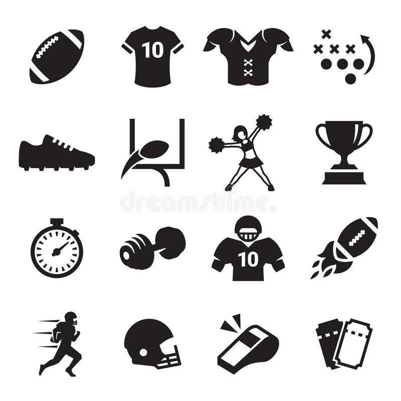 American Football Icons royalty free illustration
