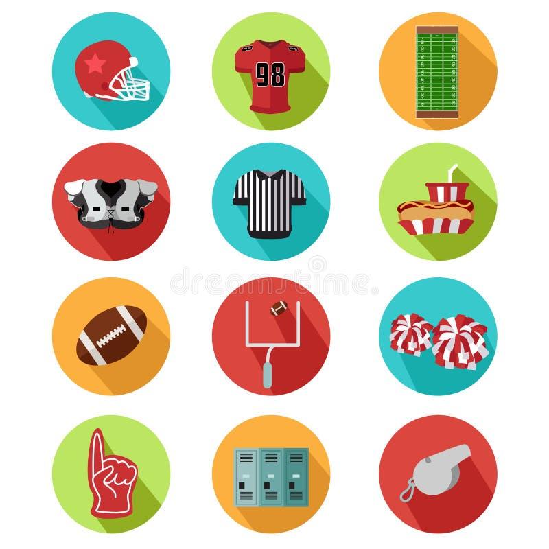American football icons vector illustration