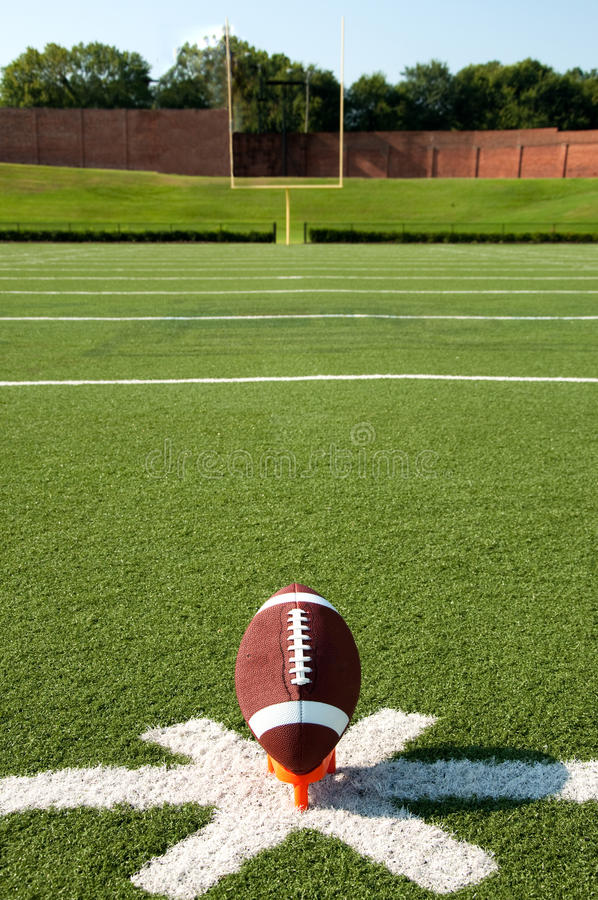 Download American Football Kickoff stock image. Image of goalpost - 15636405