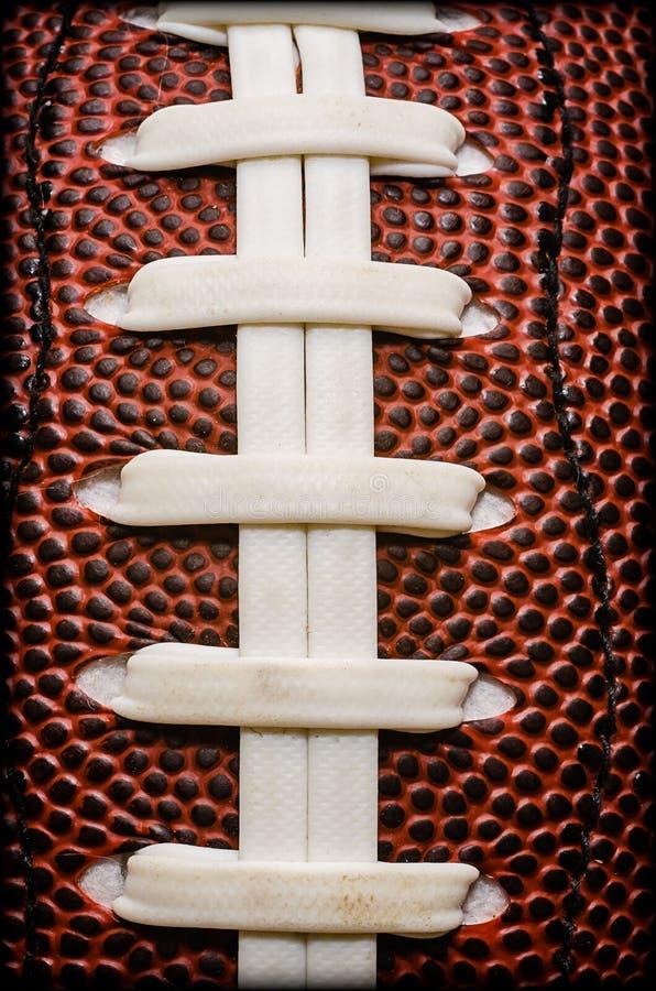 American Football Laces Closeup Stock Image