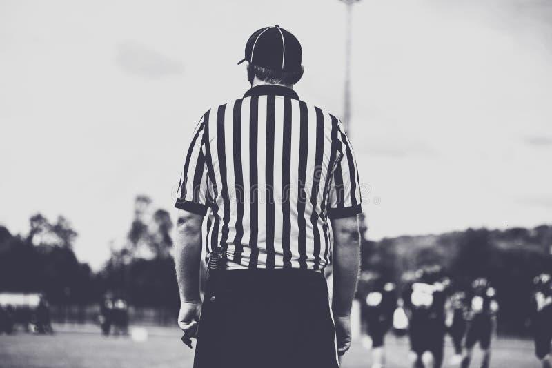 American football line umpire, referee royalty free stock photos