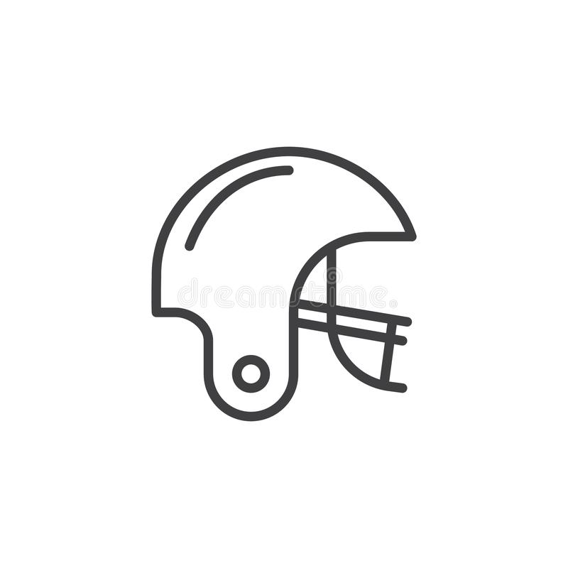 American football line icon stock illustration