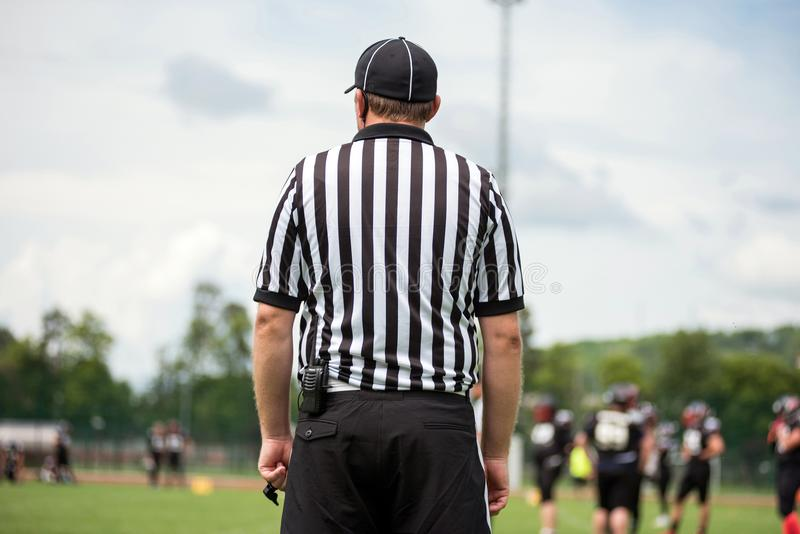 American football line umpire, referee stock images