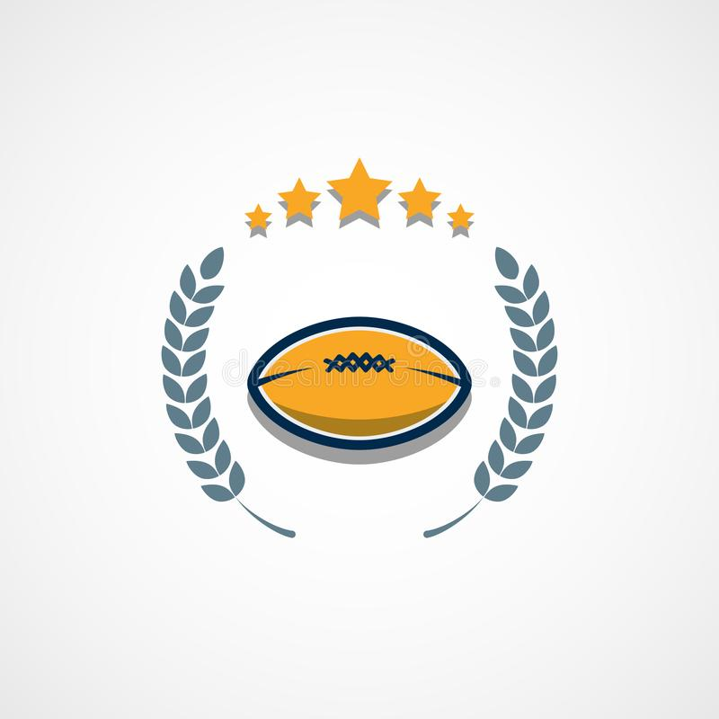 American Football Logo Template. Vector College Logos Illustration. This is Vector based - American Football Logo that can be scale to any size without losing royalty free illustration