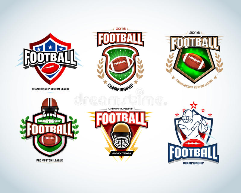 american football logo templates badge crests t shirt label