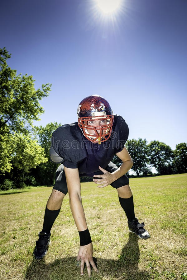 American Football Offensive Lineman stock photography