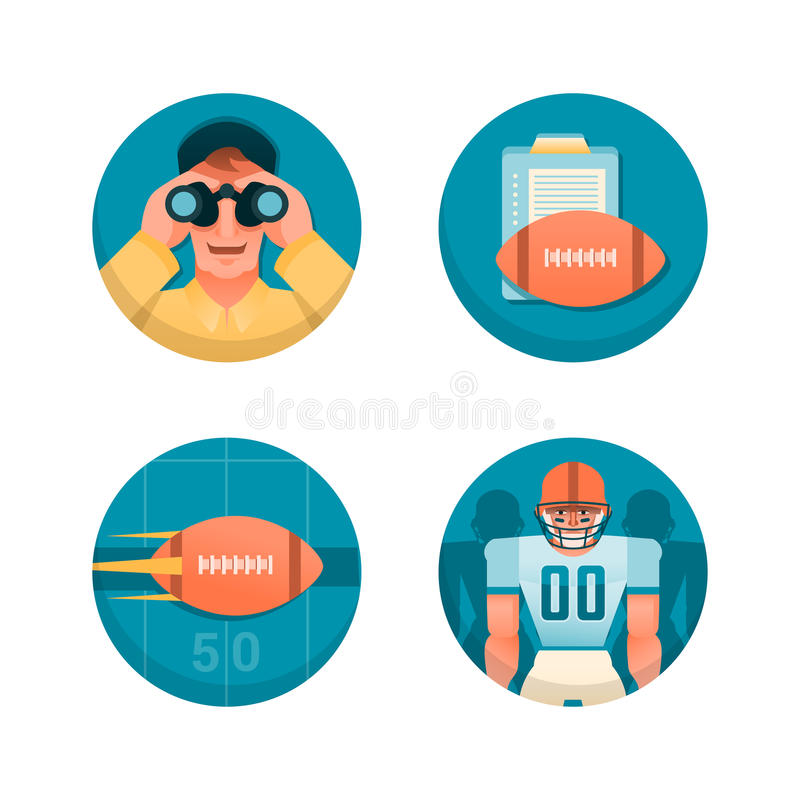 American football. Part 1 vector illustration