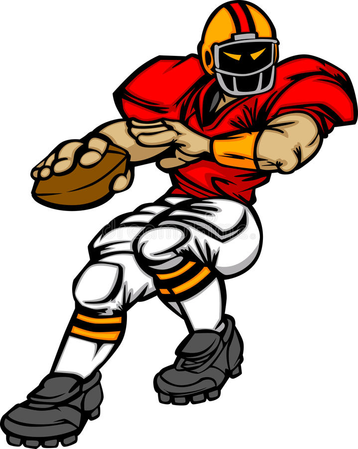 american football player cartoon stock vector Football Clip Art free football player clipart black and white