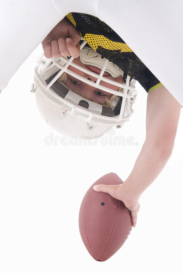 American football player hiking ball royalty free stock photos