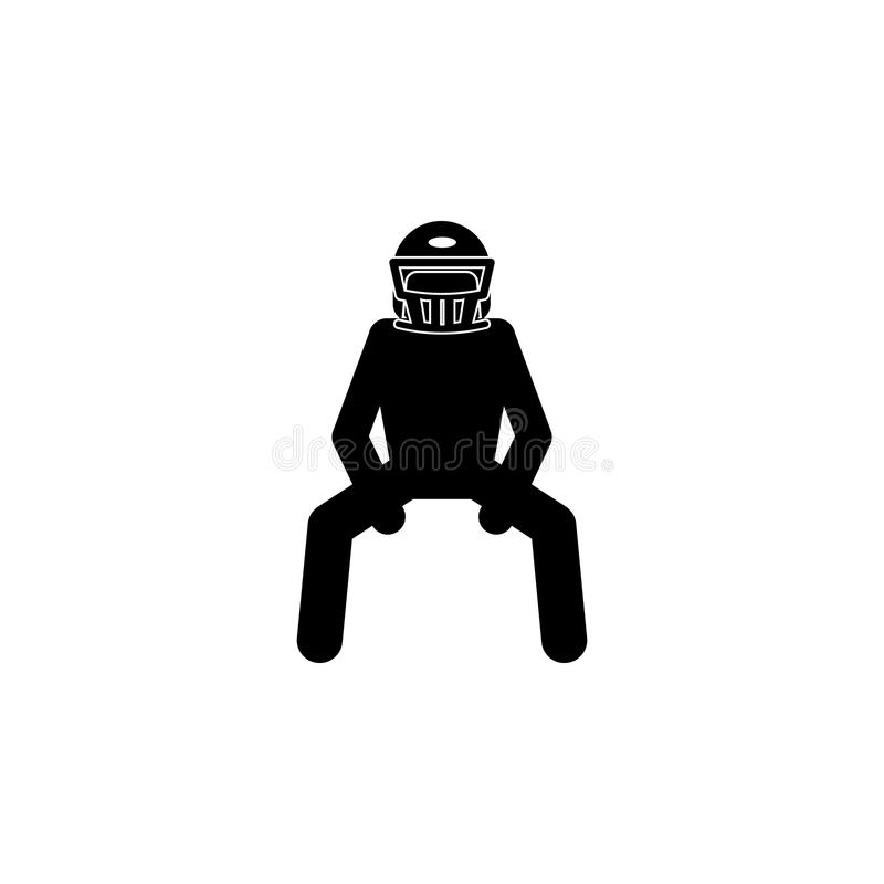 American football player icon.Element of popular american football icon. Premium quality graphic design. Signs, symbols collectio stock illustration