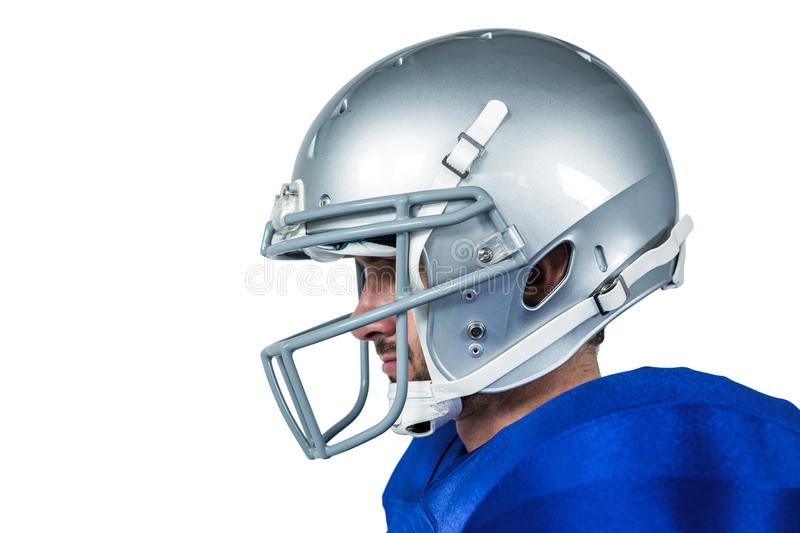 American football player looking away stock images