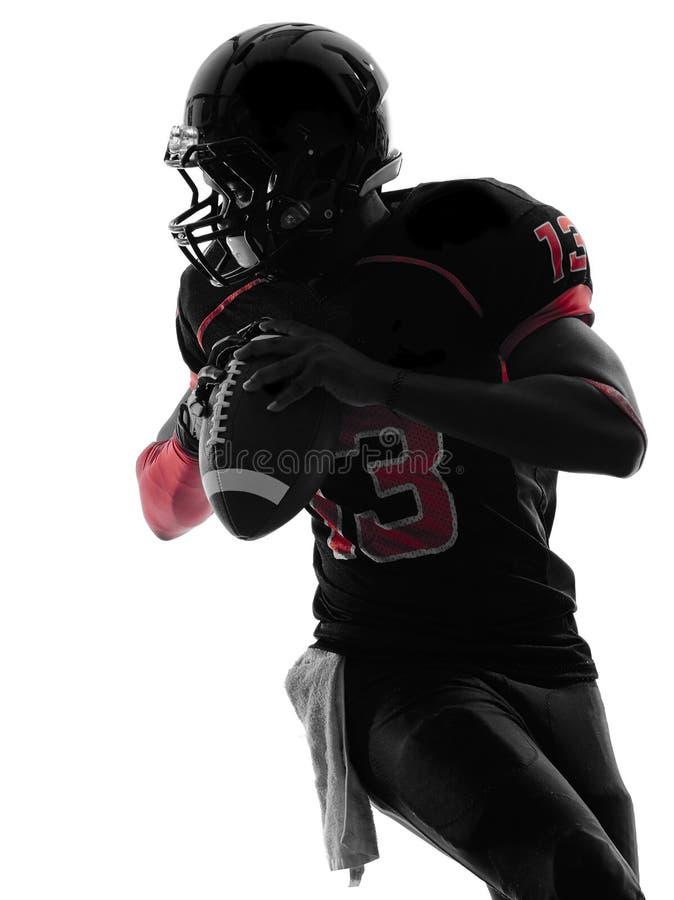 American football player quarterback portrait silhouette royalty free stock photos