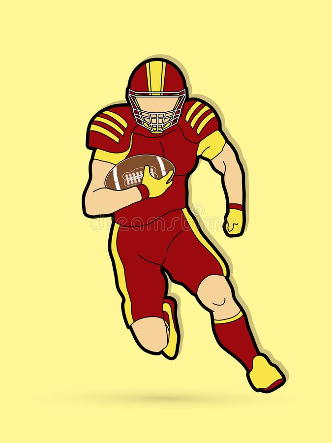 American football player stock illustration