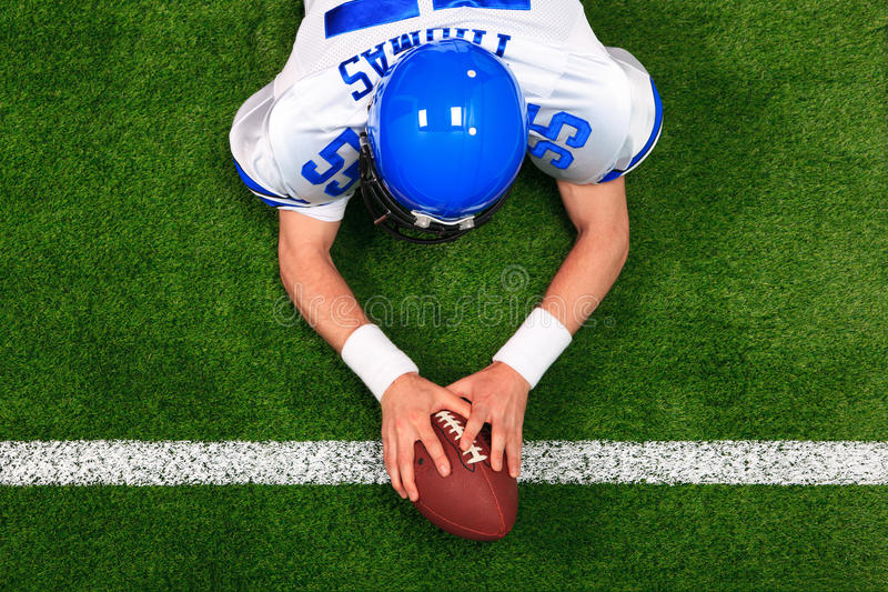 American football player touchdown stock images