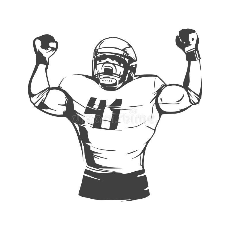 American football stock illustration