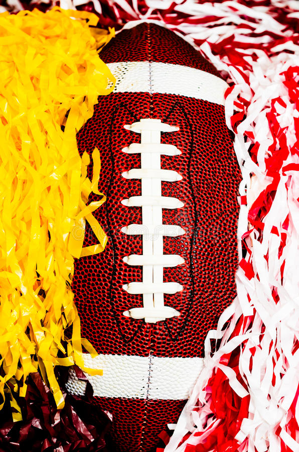 Download American Football And Pom Poms Stock Photo - Image: 32520986