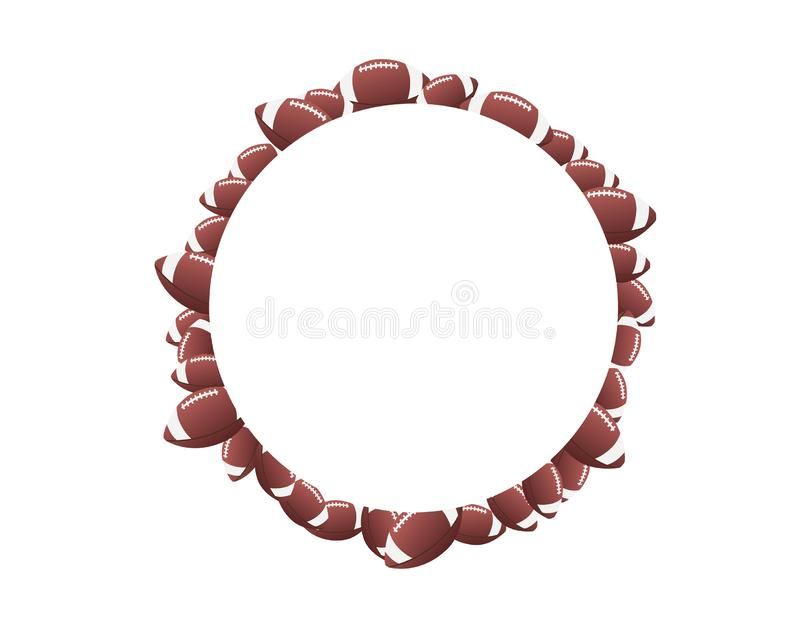 American football round frame isolated royalty free illustration