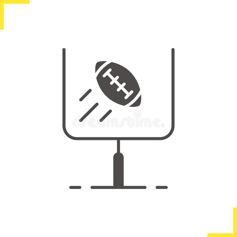 American football or rugby goal icon royalty free illustration