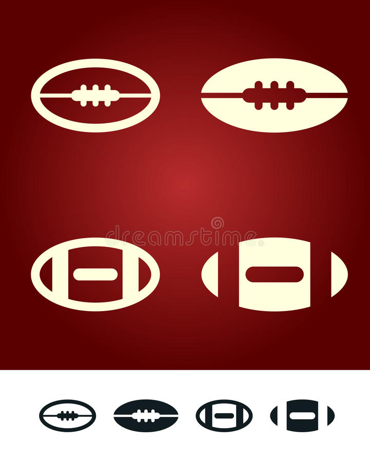 Download American football sign stock vector. Image of ball, america - 13348526