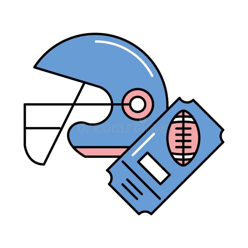 American football sport helmet icon royalty free illustration