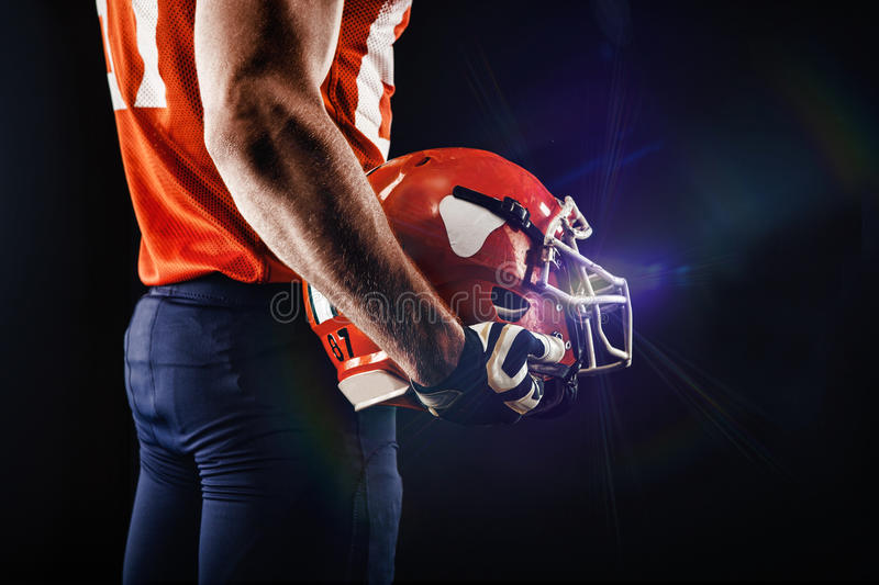 American football sportsman player royalty free stock images