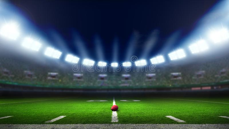 American football stadium royalty free stock photos