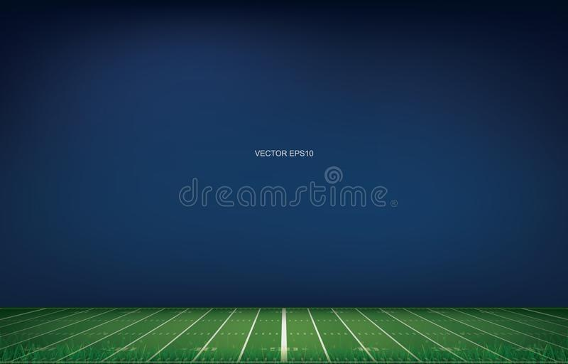 American football stadium background with perspective line pattern of grass field. stock illustration