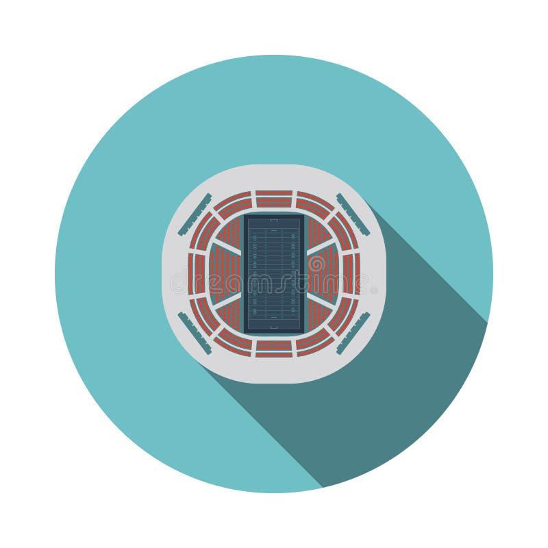American football stadium bird`s-eye view icon. Flat color design. Vector illustration stock illustration