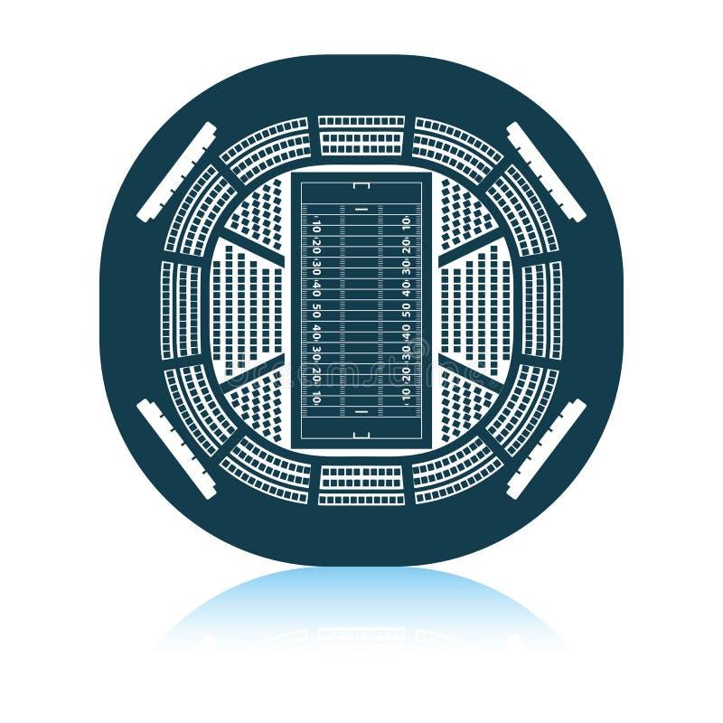 American football stadium bird`s-eye view icon. Shadow reflection design. Vector illustration vector illustration