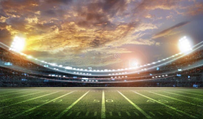American football stadium 3D. American football stadium 3D rendering vector illustration