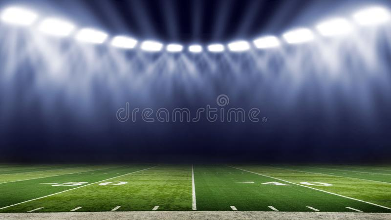 American football stadium low angle field view royalty free stock photos