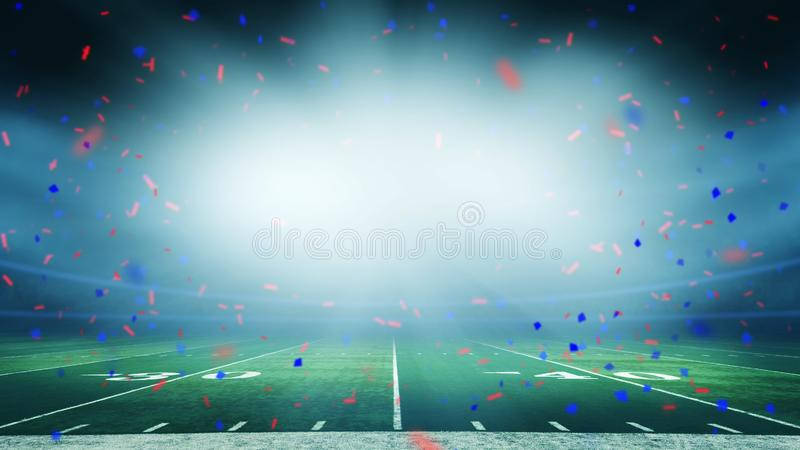 American football stadium win celebration stock photo