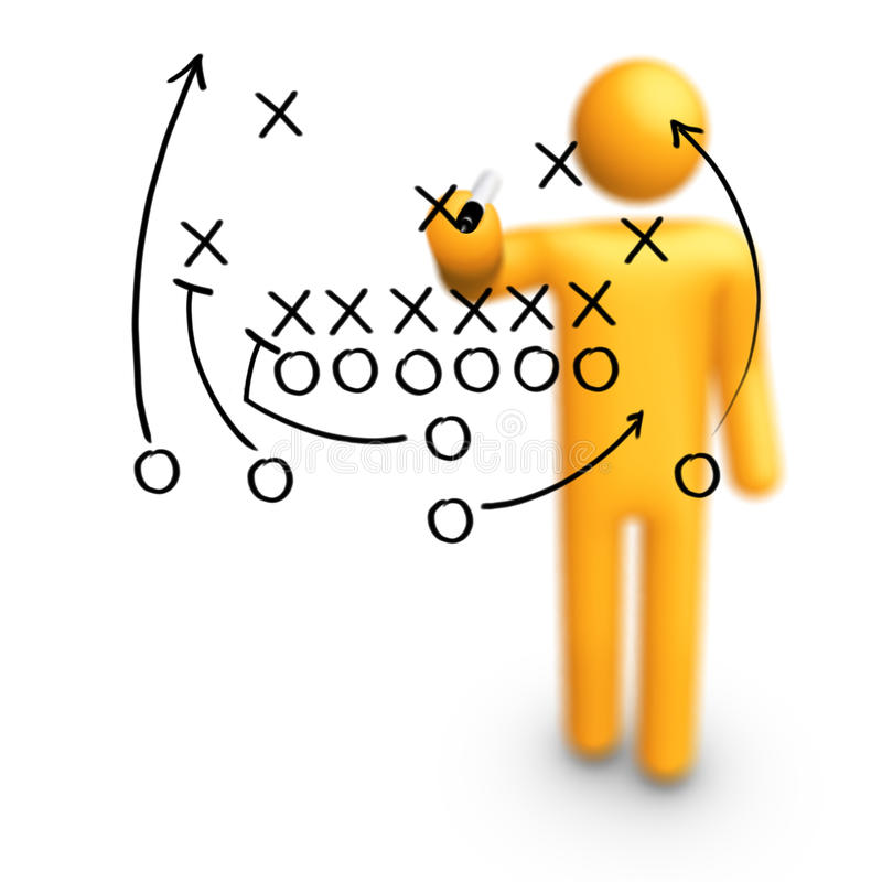 American football Strategy royalty free illustration