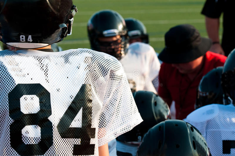Download American Football Team In Huddle Stock Image - Image: 33072025