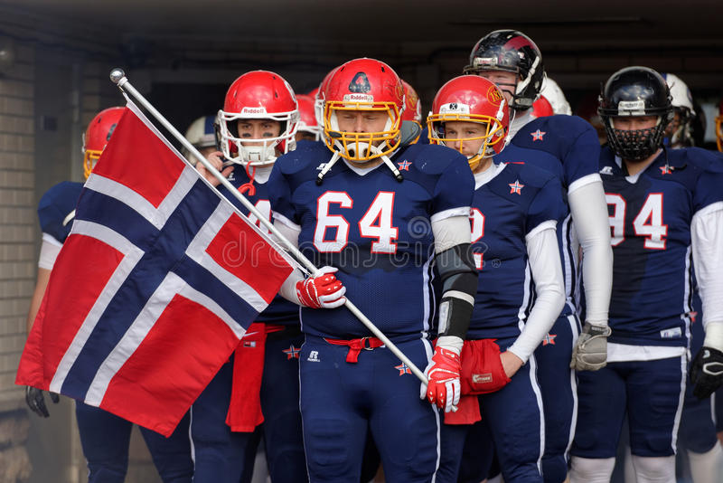 American football team Norway royalty free stock images
