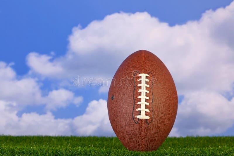 American football tee'd up stock photo